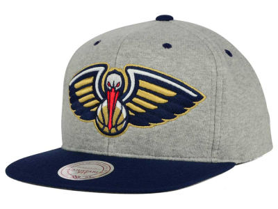 New Orleans Pelicans Mitchell and Ness NBA Heather Jersey Snapback Cap