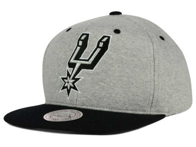 San Antonio Spurs Mitchell & Ness NBA Heather Jersey Snapback Cap