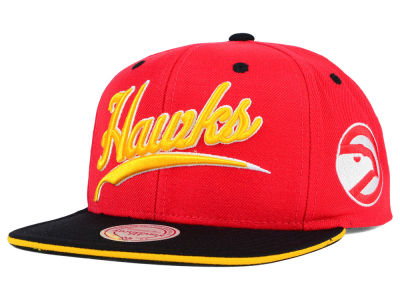 Atlanta Hawks Mitchell and Ness NBA Billboard Script Snapback Cap
