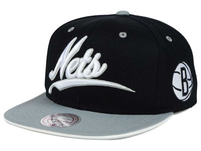 Brooklyn Nets Mitchell and Ness NBA Billboard Script Snapback Cap