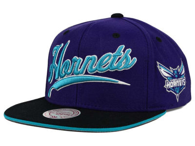 Charlotte Hornets Mitchell and Ness NBA Billboard Script Snapback Cap
