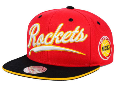 Houston Rockets Mitchell and Ness NBA Billboard Script Snapback Cap