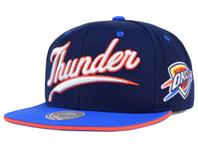 Oklahoma City Thunder Mitchell and Ness NBA Billboard Script Snapback Cap