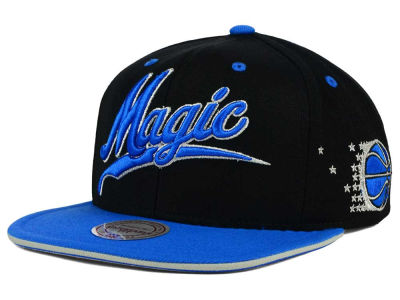 Orlando Magic Mitchell and Ness NBA Billboard Script Snapback Cap