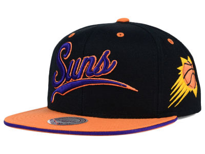 Phoenix Suns Mitchell and Ness NBA Billboard Script Snapback Cap