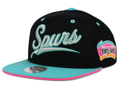 San Antonio Spurs Mitchell and Ness NBA Billboard Script Snapback Cap
