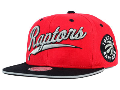 Toronto Raptors Mitchell and Ness NBA Billboard Script Snapback Cap