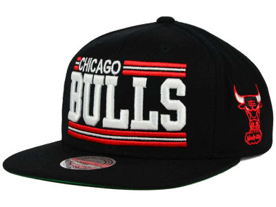 Chicago Bulls Mitchell and Ness NBA Team Block Snapback Cap
