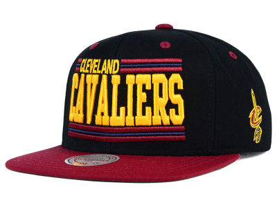 Cleveland Cavaliers Mitchell and Ness NBA Team Block Snapback Cap