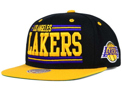 Los Angeles Lakers Mitchell and Ness NBA Team Block Snapback Cap