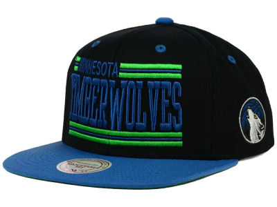 Minnesota Timberwolves Mitchell and Ness NBA Team Block Snapback Cap