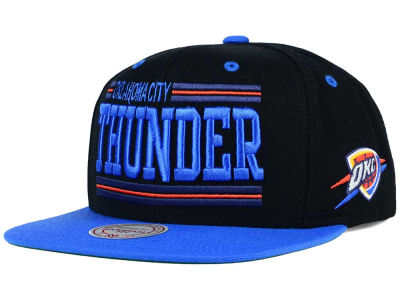 Oklahoma City Thunder Mitchell and Ness NBA Team Block Snapback Cap