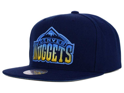 Denver Nuggets Mitchell and Ness NBA Gradient Lines Snapback Cap
