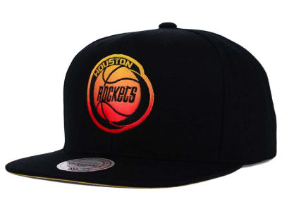 Houston Rockets Mitchell and Ness NBA Gradient Lines Snapback Cap