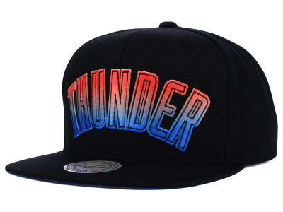 Oklahoma City Thunder Mitchell and Ness NBA Gradient Lines Snapback Cap