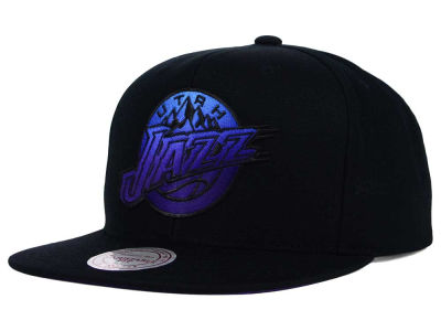 Utah Jazz Mitchell and Ness NBA Gradient Lines Snapback Cap