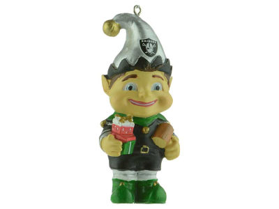 Oakland Raiders Resin Elf Ornament
