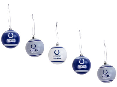 Indianapolis Colts 5pk Shatterproof Ornament Set