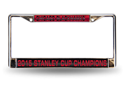 Chicago Blackhawks NHL 2015 Stanley Cup Champ Event Laser Frame
