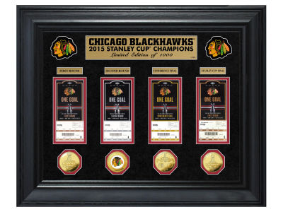 Chicago Blackhawks NHL 2015 Stanley Cup Champ Deluxe Silver Coin & Ticket Collection