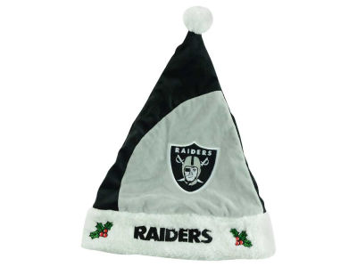 Oakland Raiders Plush Santa Hat