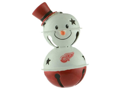 Detroit Red Wings Snowman Bell Ornament