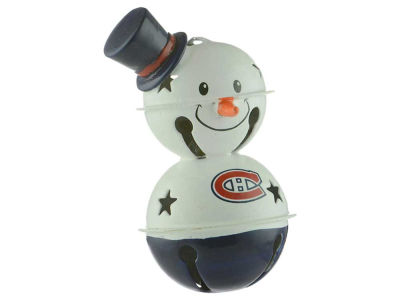 Montreal Canadiens Snowman Bell Ornament