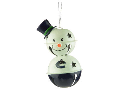 Vancouver Canucks Snowman Bell Ornament