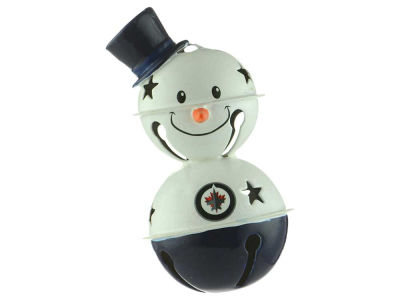 Winnipeg Jets Snowman Bell Ornament