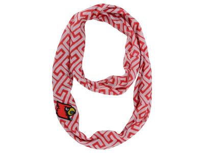 Louisville Cardinals Greek Key Infinity Scarf
