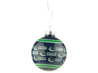Vancouver Canucks Glass Ball Ornament