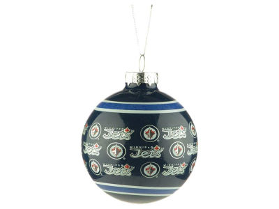 Winnipeg Jets Glass Ball Ornament