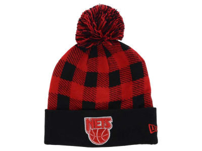 New Jersey Nets New Era NBA HWC Buff Plaid Knit