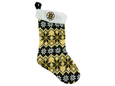 Boston Bruins Ugly Sweater Knit Team Stocking