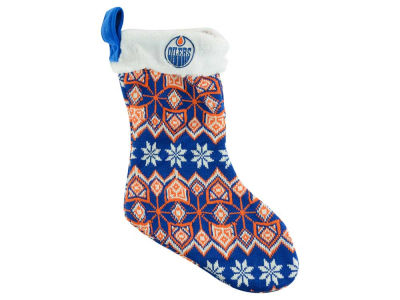 Edmonton Oilers Ugly Sweater Knit Team Stocking