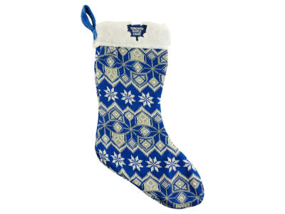 Toronto Maple Leafs Ugly Sweater Knit Team Stocking