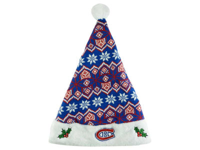 Montreal Canadiens Knit Sweater Santa Hat
