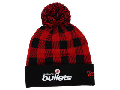 Washington Bullets New Era NBA HWC Buff Plaid Knit