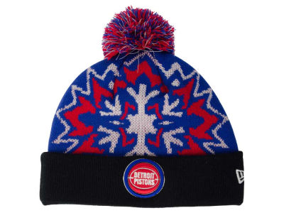 Detroit Pistons New Era NBA HWC Glowflake 2.0 Knit