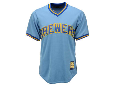 Milwaukee Brewers Majestic MLB Men's Cooperstown Blank Replica Cool Base Jersey