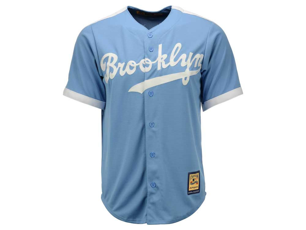 Brooklyn Dodgers Majestic MLB Men s Cooperstown Blank Replica Cool ... 809e308b56a