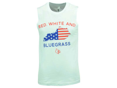 Louisville Cardinals NCAA Men's Red White and Bluegrass Muscle Tank