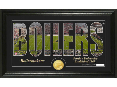 Purdue Boilermakers Highland Mint Word Art Photo Mint