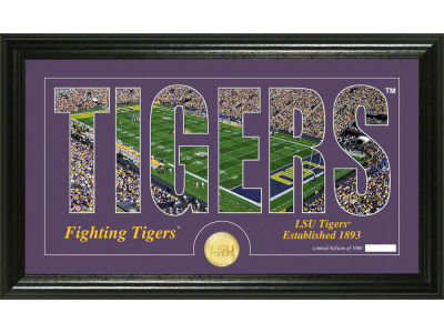 LSU Tigers Word Art Photo Mint
