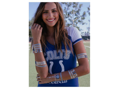 Indianapolis Colts Metallic Jewelry Temporary Tattoos