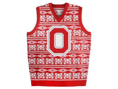 Ohio State Buckeyes La Tilda NCAA Men's Ugly Sweater Vest