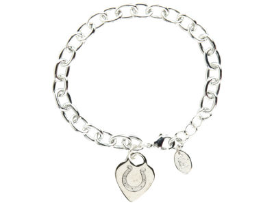 Indianapolis Colts Heart Tag Bracelet