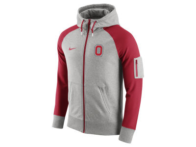 Ohio State Buckeyes Nike NCAA Men's Stadium Team First Light Weight Full Zip Hoodie