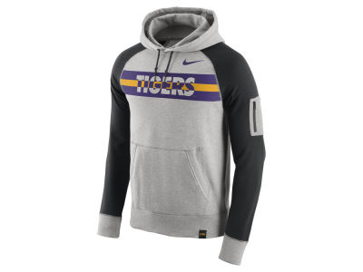 LSU Tigers Nike NCAA Men's Stadium Team First Light Weight Pullover Hoodie
