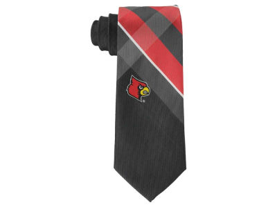 Louisville Cardinals Woven Poly Grid Tie